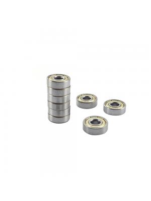10 PCS Ball Bearing 608ZZ Metal Double Shielded Miniature Bearings