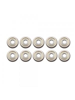 10 PCS Micro Flange Ball Bearings F604ZZ with Edge 4x13x4mm