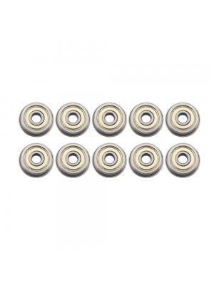 10 PCS Micro Flange Ball Bearings F624ZZ with Edge 4x15x5mm