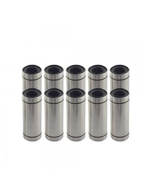 10 PCS LM12LUU Linear Bearing Bushing ID12mm OD21mm H57mm