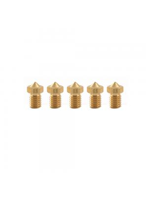5 PCS Nozzle 0.6mm MK8 Extruder Head for 3D Printer